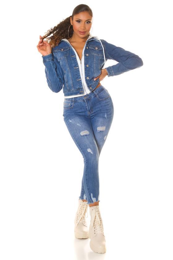 Žalios spalvos dviejų dalių kompletas kepurė+šalikas_221548