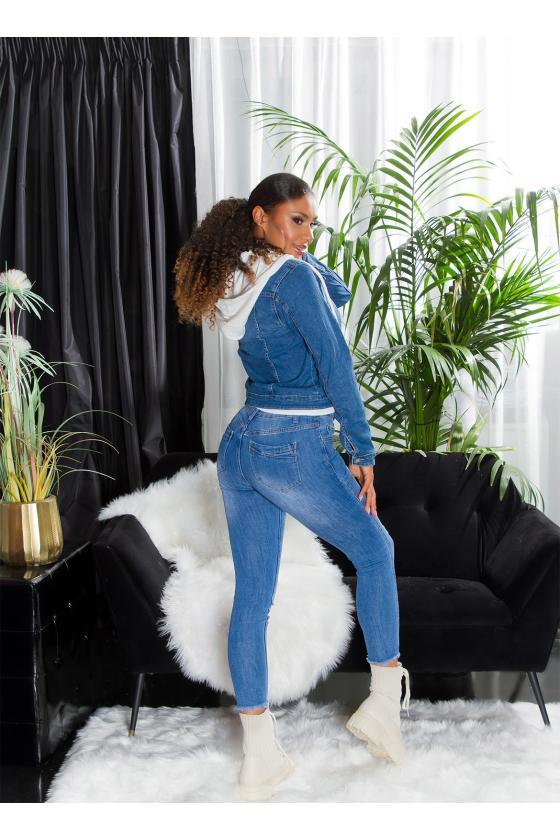 Kapučino spalvos dviejų dalių kompletas kepurė+šalikas_221551