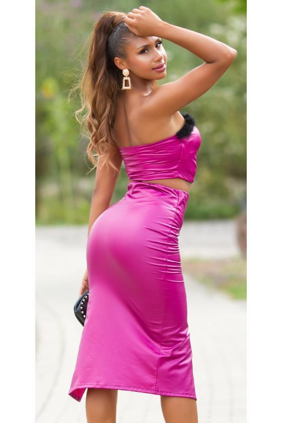 Juodos spalvos oversize modelio suknelė_242118