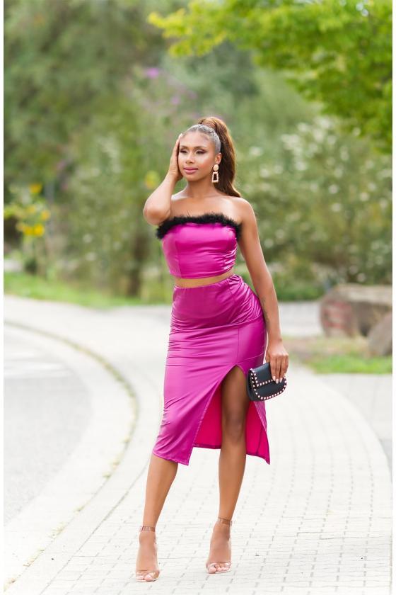 Smėlio spalvos oversize modelio suknelė_242132