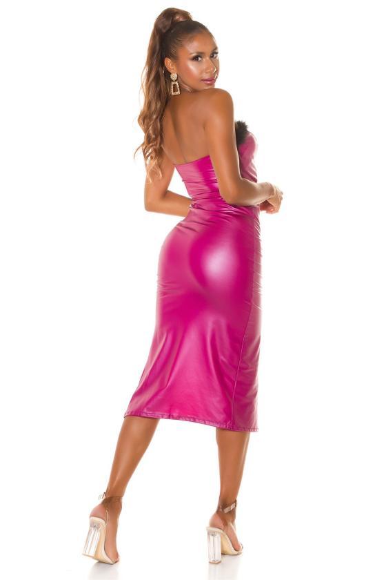 Smėlio spalvos oversize modelio suknelė