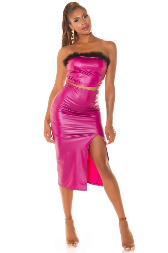 Smėlio spalvos oversize modelio suknelė_242134