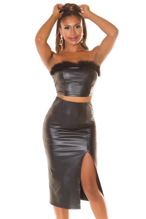 Grafito spalvos oversize modelio suknelė_242144