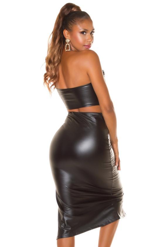 Grafito spalvos oversize modelio suknelė_242145