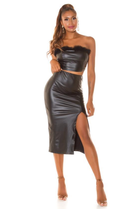 Grafito spalvos oversize modelio suknelė