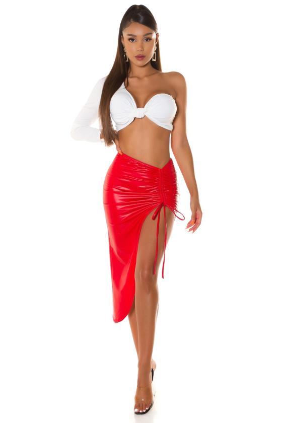 Mėlynos spalvos veliūrinė suknelė JOLA_242197