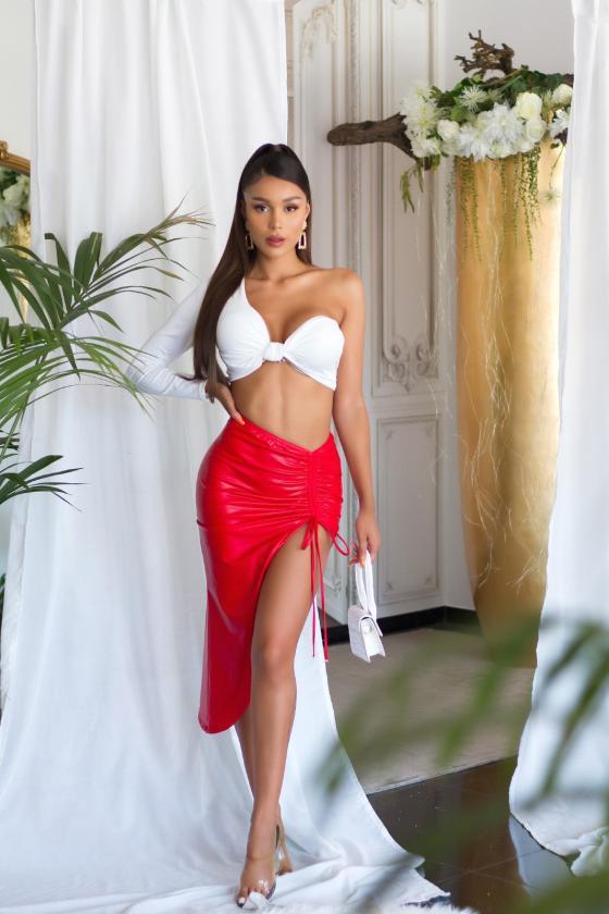 Mėlynos spalvos veliūrinė suknelė JOLA_242199