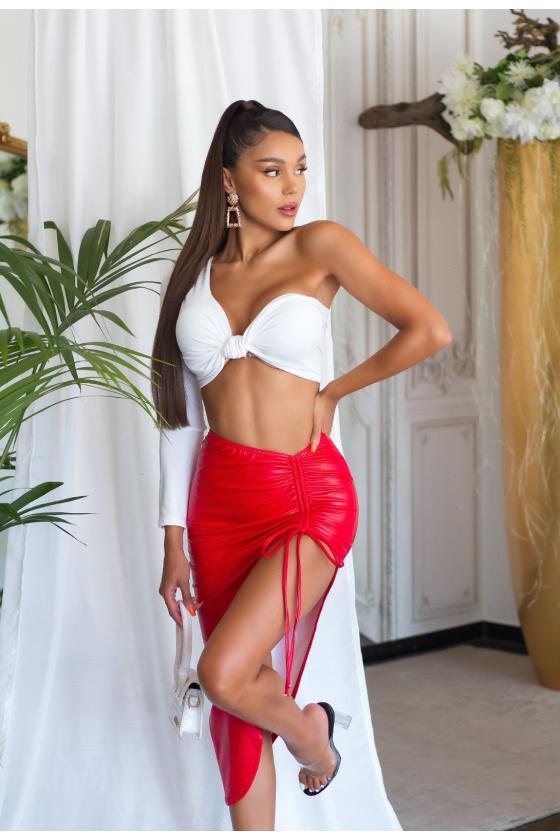 Mėlynos spalvos veliūrinė suknelė JOLA