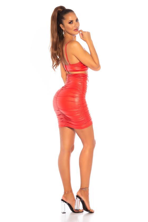 Juodos spalvos megzta suknelė CUT-OUT_242301