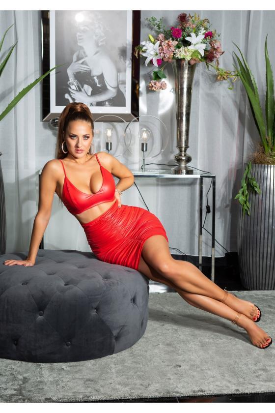 Juodos spalvos megzta suknelė CUT-OUT