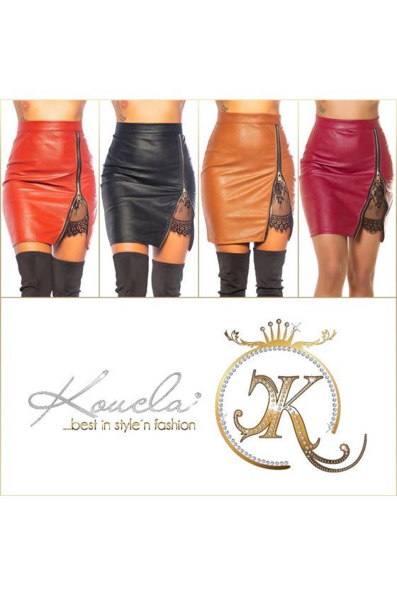 Mėlynos spalvos megzta suknelė BI-COLOUR_242362
