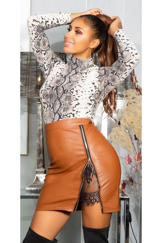 Mėlynos spalvos megzta suknelė BI-COLOUR_242363