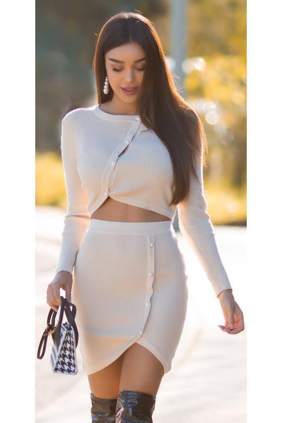 Žalios spalvos megztinis ROCK N ROLL