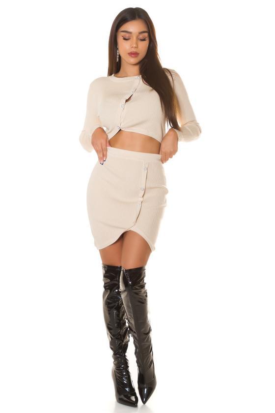 Žalia elegantiška midi suknelė su dailia iškirpte_242426