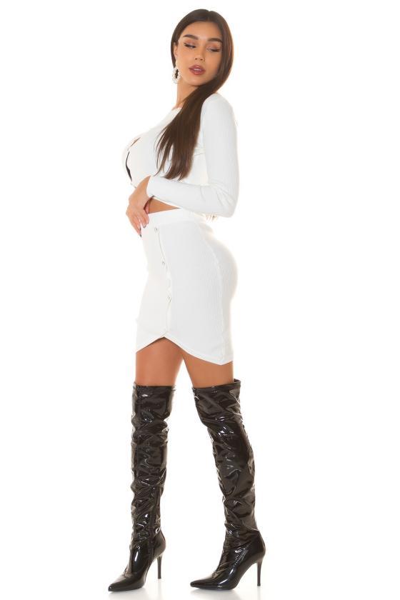 Baltos spalvos megztinis su elniais_242521