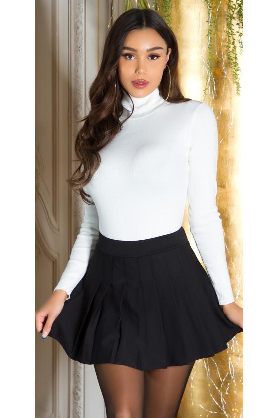 Juodos spalvos ilgas klasikinis paltas_242589