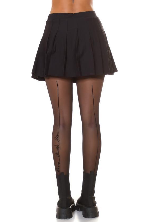 Juodos spalvos bukle tipo medžiagos paltas_242600