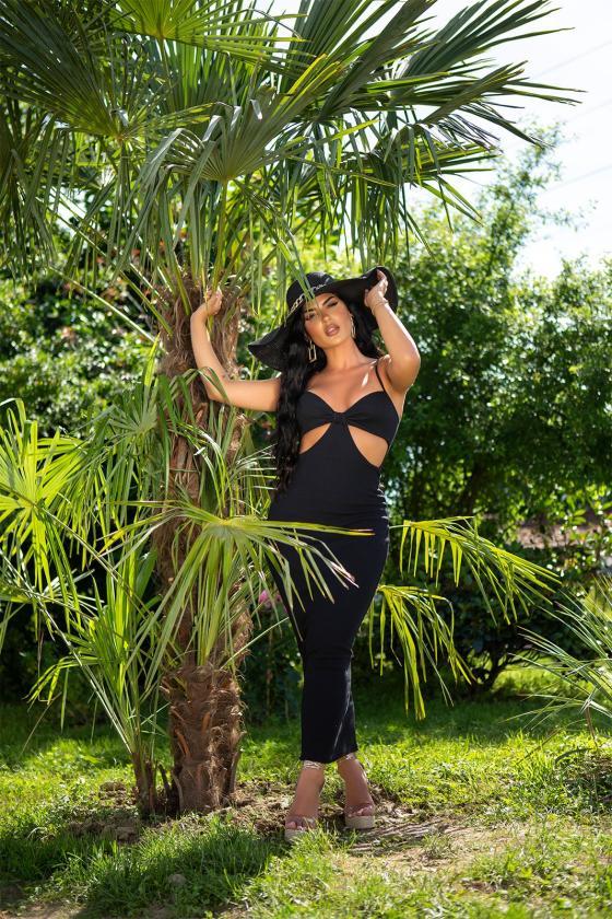 Žalios spalvos asimetriška tunika_242719