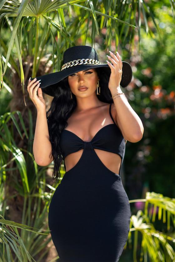 Žalios spalvos asimetriška tunika_242720