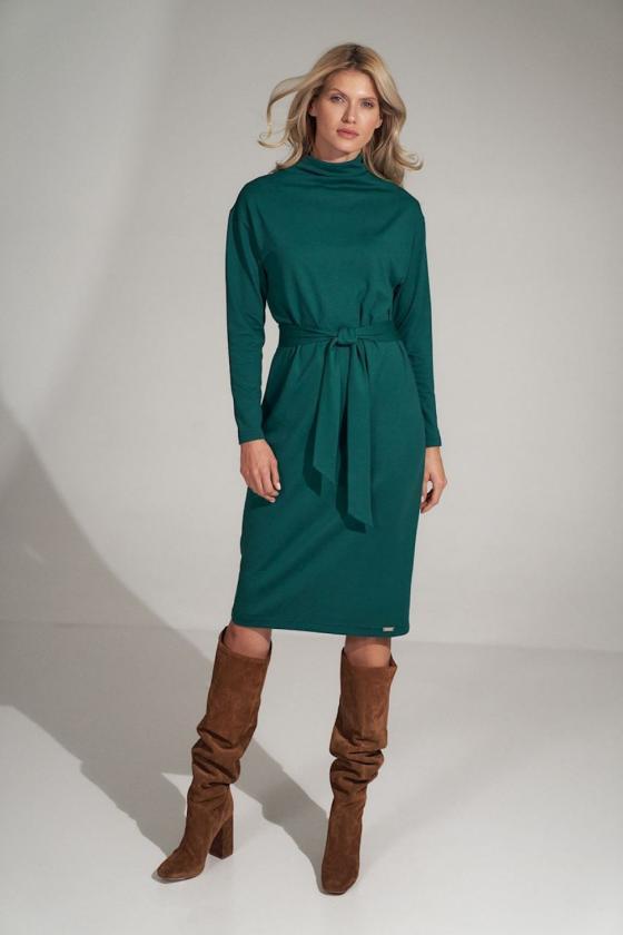 Seksuali smėlinė suknelė su gipiūro rankovėmis_57384