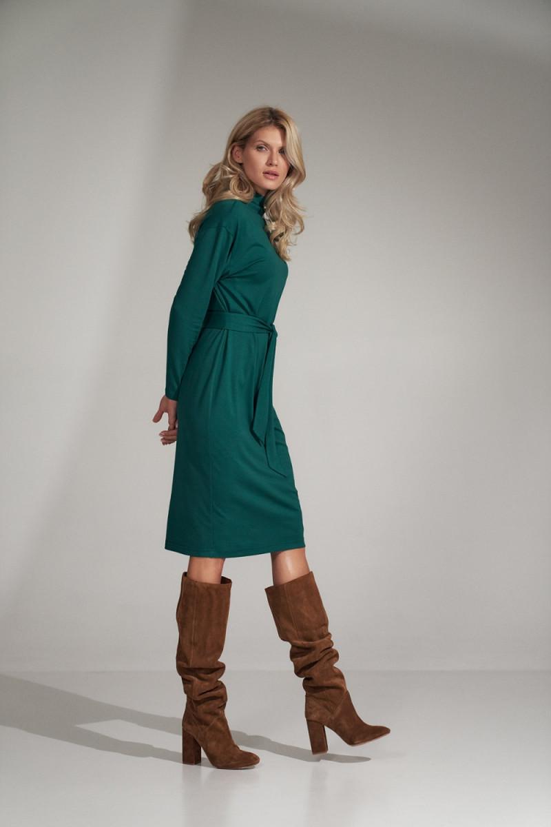 Seksuali smėlinė suknelė su gipiūro rankovėmis_57385