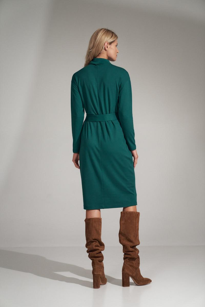 Seksuali smėlinė suknelė su gipiūro rankovėmis_57386
