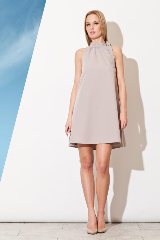 Asimetriška pilkos spalvos mini suknelė_57402