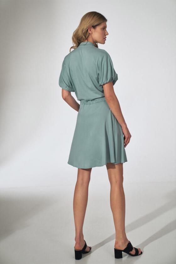 Raudona gipiūrinė suknelė atvira nugara_57420