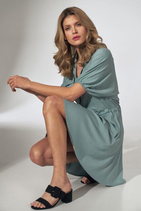 Raudona gipiūrinė suknelė atvira nugara_57421