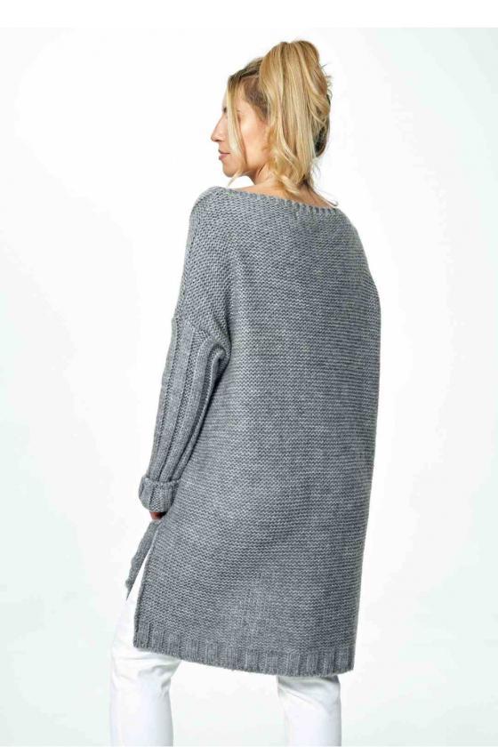 Trumpa raudona suknelė surišama ant kaklo_57435