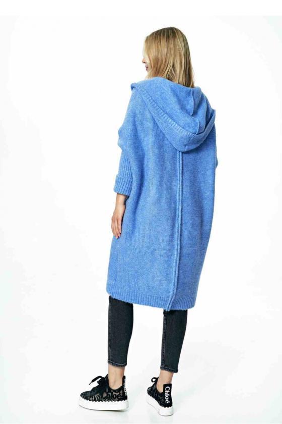Trumpa juoda suknelė surišama ant kaklo