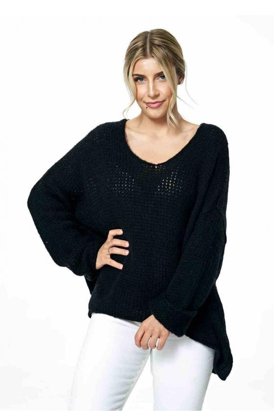 Trumpa juoda suknelė surišama ant kaklo_57445
