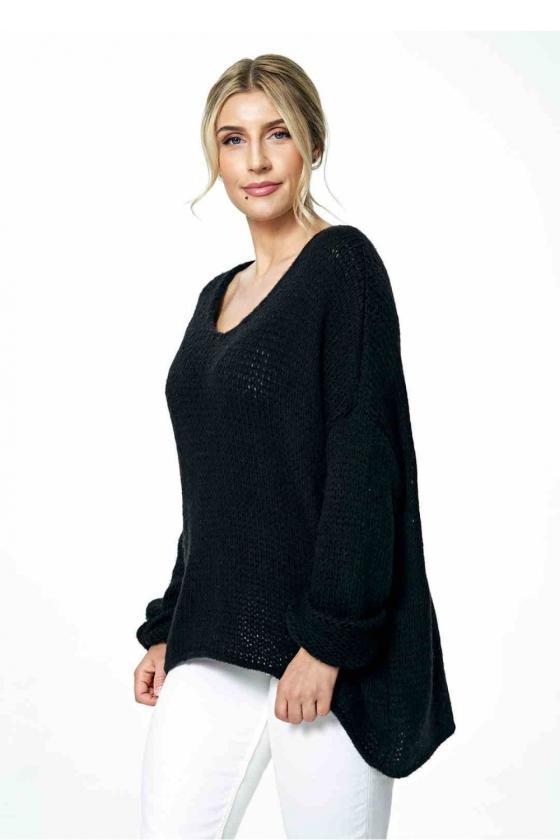Trumpa juoda suknelė surišama ant kaklo_57446