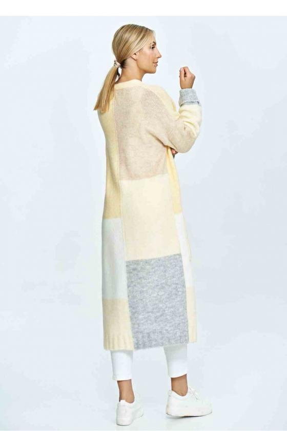 Trumpa smėlinė suknelė surišama ant kaklo
