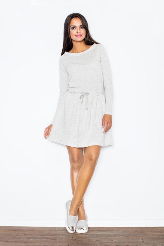 Elegantiška kapučino spalvos suknelė su šleifu_57524