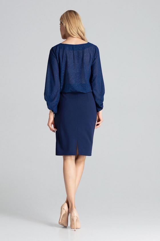 Prabangi juoda suknelė su tiuliu dekoruota žvyneliais_57678