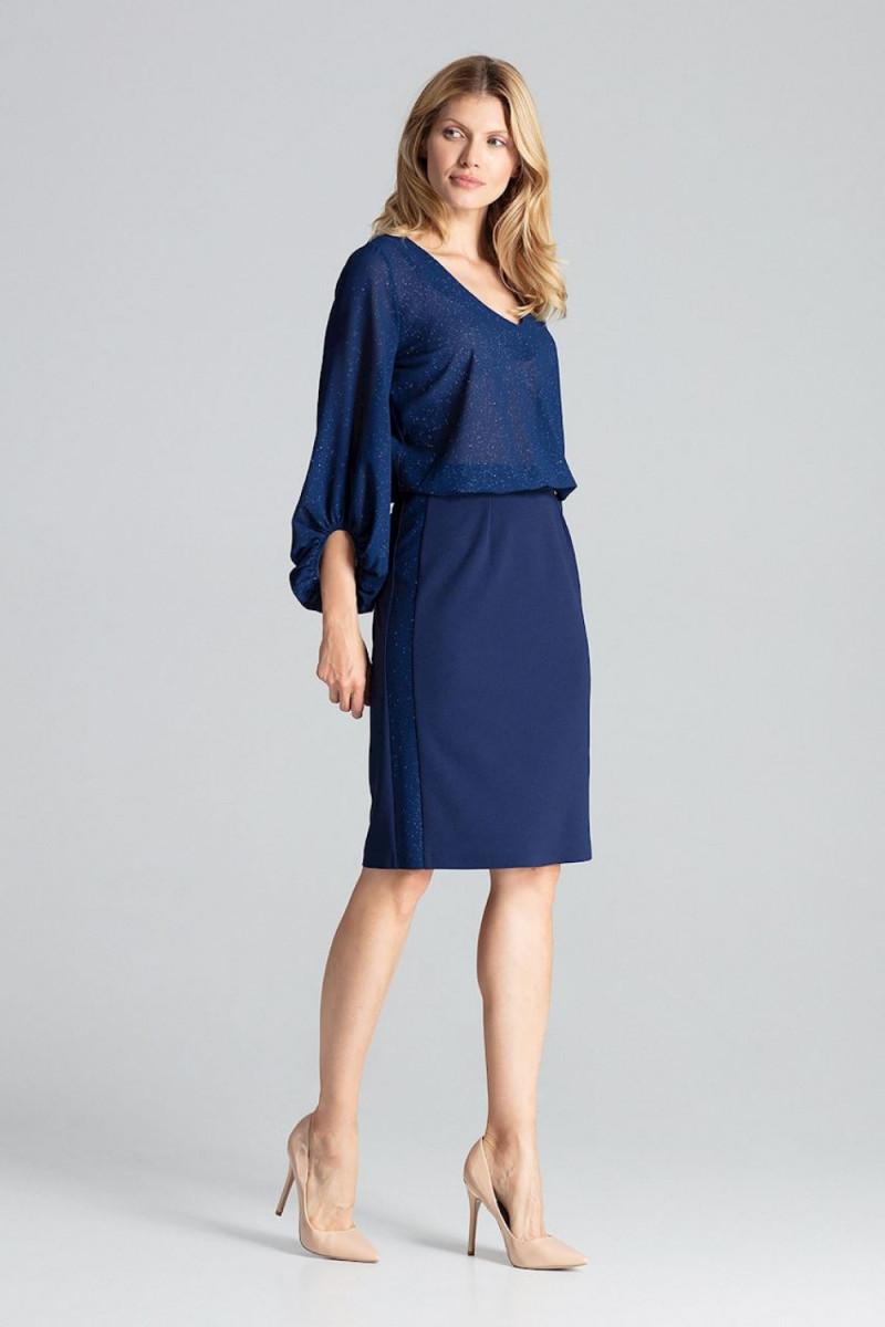 Prabangi juoda suknelė su tiuliu dekoruota žvyneliais_57679