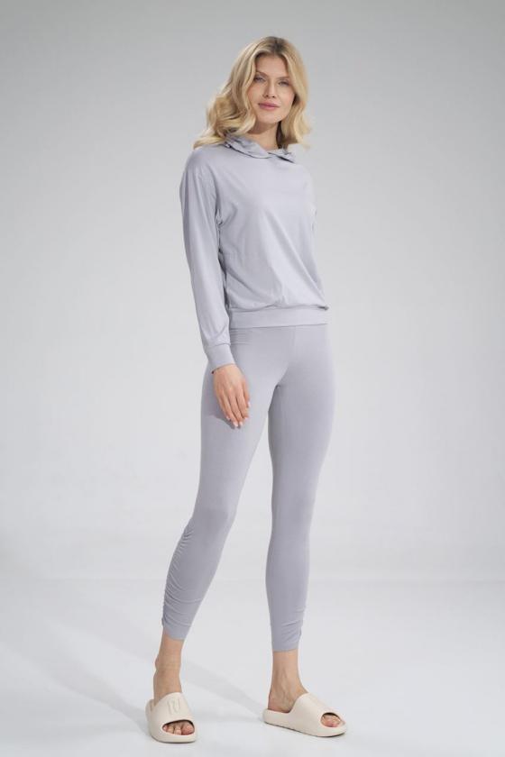 Seksuali koralinės spalvos suknelė su gipiūro detalėmis_57694