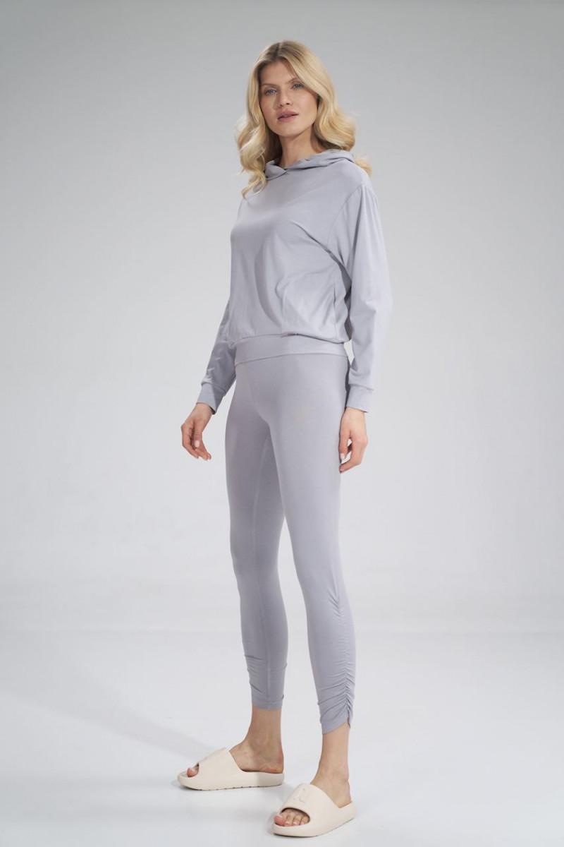 Seksuali koralinės spalvos suknelė su gipiūro detalėmis_57696
