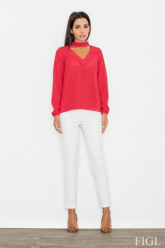 Seksuali raudonos spalvos suknelė su gipiūro detalėmis_57703