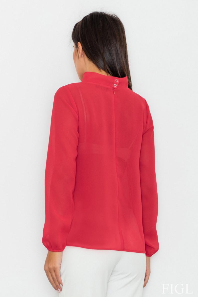 Seksuali raudonos spalvos suknelė su gipiūro detalėmis