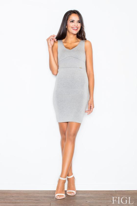 Mėlyna midi suknelė dekoruota gėlių raštu_57889