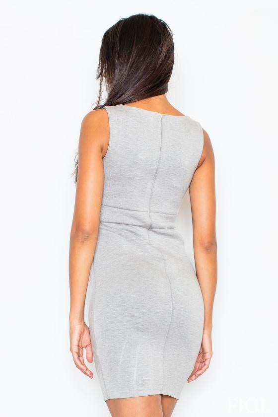 Mėlyna midi suknelė dekoruota gėlių raštu
