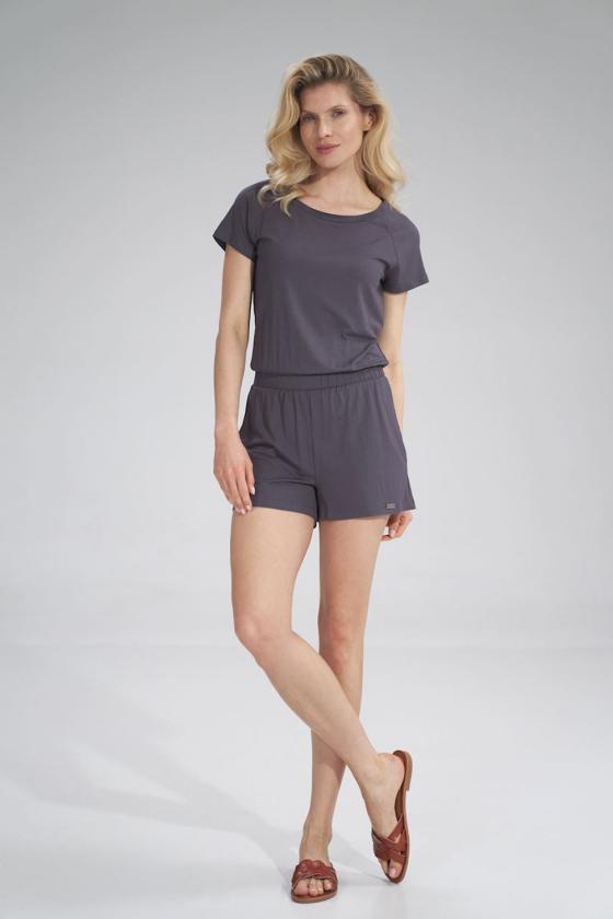 Žalia midi suknelė dekoruota gėlių raštu_57897