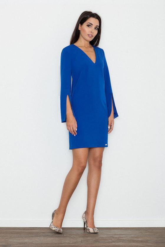 Rožinė midi suknelė dekoruota gėlių raštu_57905