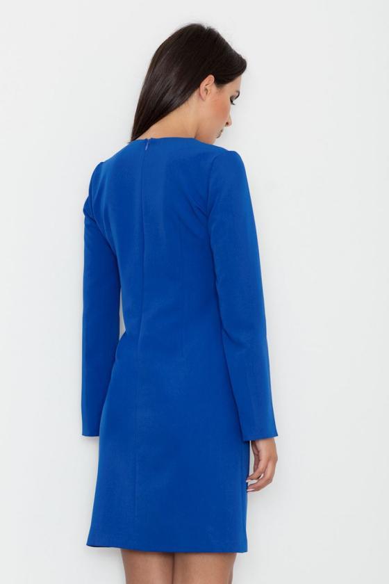 Rožinė midi suknelė dekoruota gėlių raštu