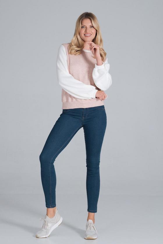 Rausva plisuota suknelė su iškirptomis rankovėmis_58038