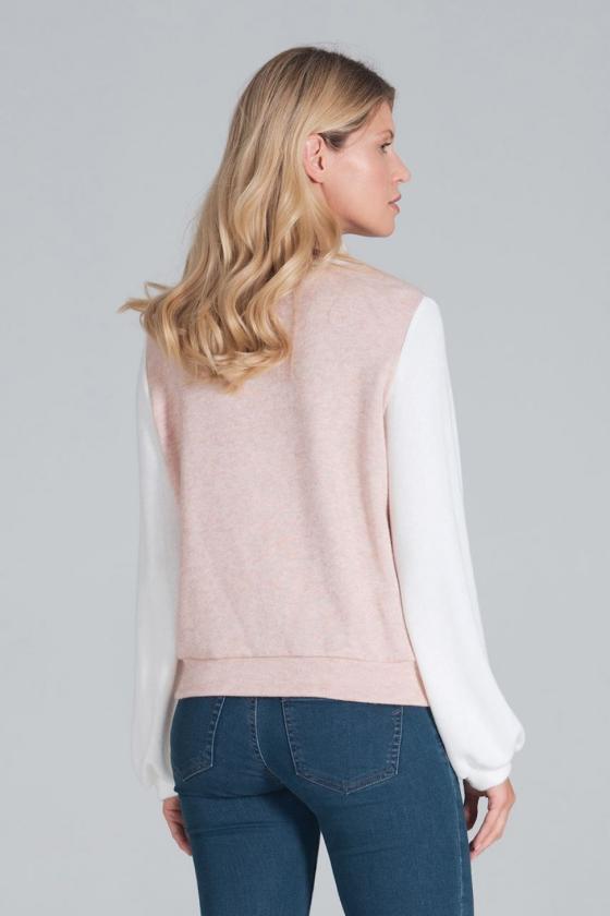 Rausva plisuota suknelė su iškirptomis rankovėmis_58039