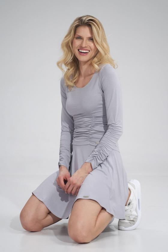 Juodi šifoniniai marškiniai su šilku