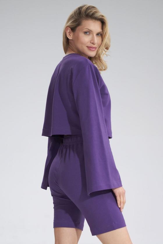 Rausvi šifoniniai marškiniai su šilku